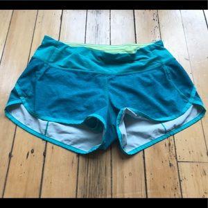 Lululemon Speed Shorts Sz 4